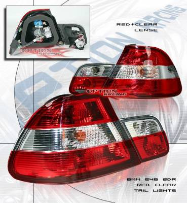 Headlights & Tail Lights - Tail Lights - Option - E46 00-03 Tails Red Clear
