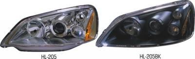 Headlights & Tail Lights - Headlights - Pilot - Honda Civic 2DR & 4DR Pilot Projector Headlight - Pair - HL-205