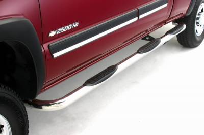 Suv Truck Accessories - Running Boards - ICI - Nissan Titan ICI 3 Inch Wheel-to-Wheel Stainless Nerf Bar - NERF553NSX