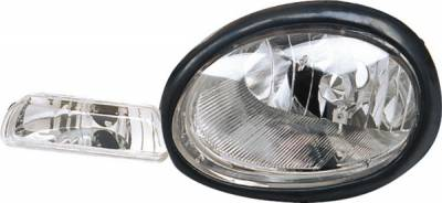 Headlights & Tail Lights - Headlights - Pilot - Dodge Neon Pilot Black Headlight - Pair - HL-802MR