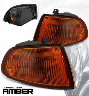 Headlights & Tail Lights - Corner Lights - OptionRacing - Honda Civic Option Racing Corner Light - JDM Vision - Amber - HW-06016-A