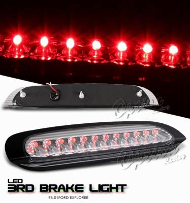 Headlights & Tail Lights - Third Brake Lights - OptionRacing - Ford Explorer Option Racing LED Third Brake Light