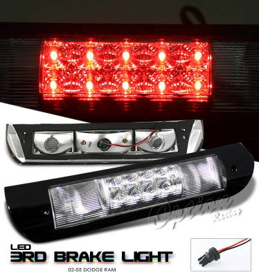 Headlights & Tail Lights - Third Brake Lights - OptionRacing - Dodge Ram Option Racing LED Third Brake Light