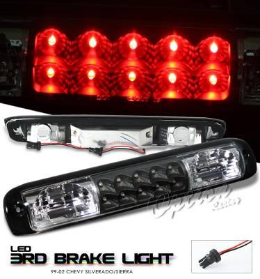 Headlights & Tail Lights - Third Brake Lights - OptionRacing - GMC Sierra Option Racing LED Third Brake Light