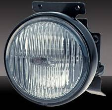 Headlights & Tail Lights - Fog Lights - Pilot - Honda Civic 2DR & 4DR Pilot OEM Style Round Fog Light Kit - Blue - Pair - PL-108B