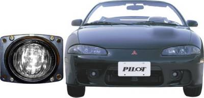 Headlights & Tail Lights - Fog Lights - Pilot - Mitsubishi Eclipse Pilot OEM Style Fog Light Kit - Clear - Pair - PL-118C