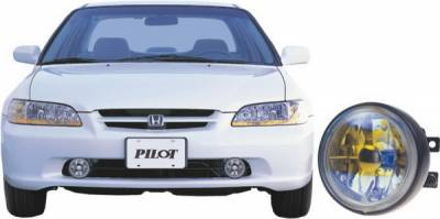 Headlights & Tail Lights - Fog Lights - Pilot - Honda Accord 4DR Pilot OEM Style Remote Fog Light Kit - Blue - Pair - PL-127B