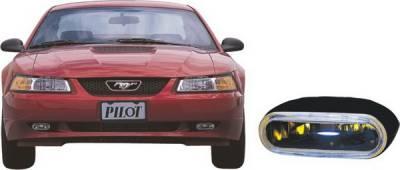 Headlights & Tail Lights - Fog Lights - Pilot - Ford Mustang Pilot Custom Remote Fog Light Kit - Blue - Pair - PL-129B