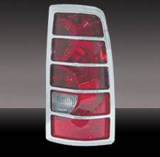 Headlights & Tail Lights - Tail Light Covers - Pilot - GMC CK Truck Pilot Chrome ABS Taillight Cover - Pair - SDL-101