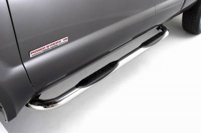 Suv Truck Accessories - Running Boards - ICI - Nissan Titan ICI 3 Inch Cab Length Stainless Nerf Bar - NERF80NSX