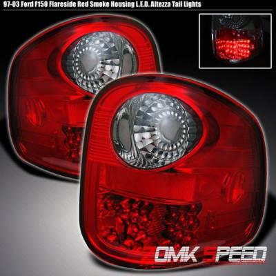 OE - RED LED FLARESIDE  Tail lights Smoke
