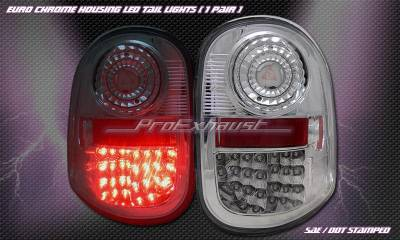 Headlights & Tail Lights - Led Tail Lights - Pro - Chrome LED Flareside Tail