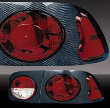 Headlights & Tail Lights - Tail Lights - Pilot - Honda Civic 2DR & 4DR Pilot Carbon Fiber Look Taillight - Paintable Bezel - Set - TL-201PB