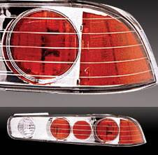 Headlights & Tail Lights - Tail Lights - Pilot - Acura Integra 2DR Pilot Chrome Taillight - Pair - TL-301