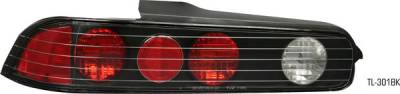 Headlights & Tail Lights - Tail Lights - Pilot - Acura Integra 2DR Pilot Black Taillight - Pair - TL-301BK