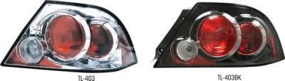 Headlights & Tail Lights - Tail Lights - Pilot - Mitsubishi Lancer Pilot Chrome Taillight - Pair - TL-403