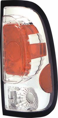 Headlights & Tail Lights - Tail Lights - Pilot - Ford F-Series Pilot Chrome Taillight - Pair - TL-501