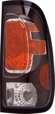 Headlights & Tail Lights - Tail Lights - Pilot - Ford F-Series Pilot Black Taillight - Pair - TL-501BK