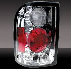 Headlights & Tail Lights - Tail Lights - Pilot - Ford Ranger Pilot Chrome Taillight - Pair - TL-508