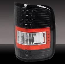 Headlights & Tail Lights - Tail Lights - Pilot - Ford F-Series Pilot Black Taillight - Pair - TL-514BK