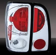 Headlights & Tail Lights - Tail Lights - Pilot - Lincoln Navigator Pilot Chrome Taillight - Set - TL-556