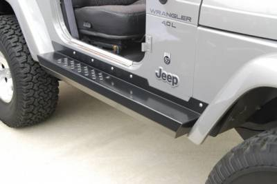 Suv Truck Accessories - Running Boards - Hyline Offroad - Jeep Wrangler Hyline Step Side Rocker Panel Assembly - TJ-30SSR