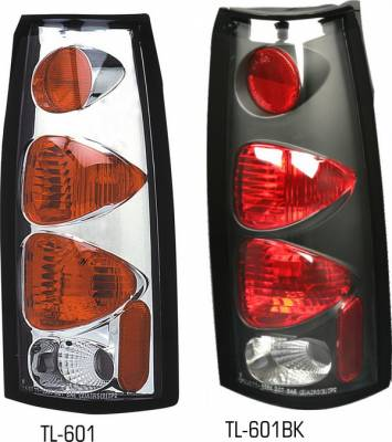 Headlights & Tail Lights - Tail Lights - Pilot - Cadillac Escalade Pilot Chrome Taillight - Pair - TL-601