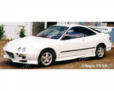 Integra 4Dr - Side Skirts - FX Designs - Acura Integra FX Design VS Style Side Skirts - FX-517