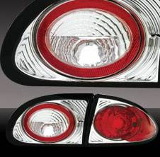 Headlights & Tail Lights - Tail Lights - Pilot - Chevrolet Cavalier Pilot Chrome Taillight - Pair - TL-605
