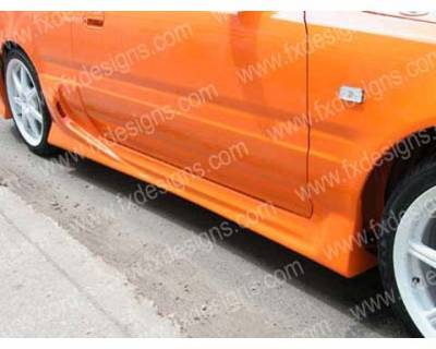 Integra 4Dr - Side Skirts - FX Designs - Acura Integra FX Design Combat Style Side Skirts - FX-721