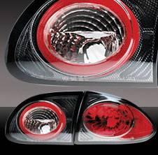 Headlights & Tail Lights - Tail Lights - Pilot - Chevrolet Cavalier Pilot Carbon Fiber Look Taillight - Pair - TL-605CF