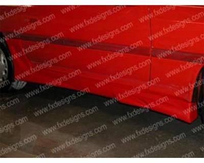 Supra - Side Skirts - FX Designs - Toyota Supra FX Design VSX Style Side Skirts - FX-987