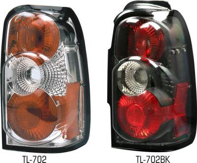 Headlights & Tail Lights - Tail Lights - Pilot - Toyota 4Runner Pilot Chrome Taillight - Pair - TL-702