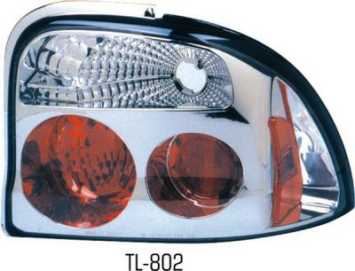 Headlights & Tail Lights - Tail Lights - Pilot - Dodge Neon Pilot Chrome Taillight - Pair - TL-802