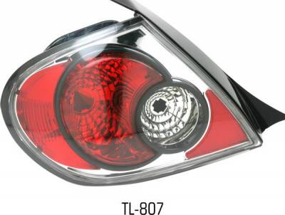 Headlights & Tail Lights - Tail Lights - Pilot - Dodge Neon Pilot Chrome Taillight - Pair - TL-807