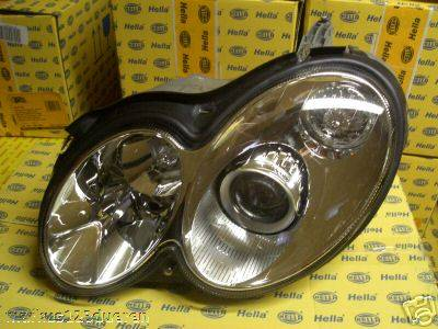 Headlights & Tail Lights - Headlights - OEM - W209 03-06 Headlights Pair Xenon