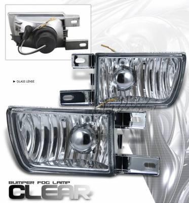 Headlights & Tail Lights - Fog Lights - OptionRacing - Volkswagen Golf Option Racing Fog Light Kit - Chrome - YH-2314-C