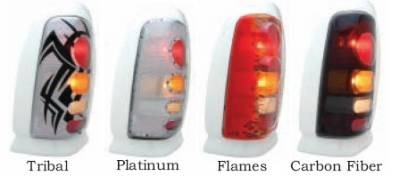 Headlights & Tail Lights - Tail Light Covers - GT Styling - Dodge Caravan GT Styling Probeam Taillight Cover