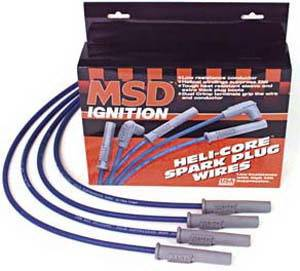 Ignition Systems - Spark Plug Wires - MSD - Chevrolet MSD Ignition Wire Set - Marine - HEI Distributor - 3148