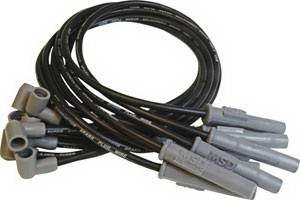 Ignition Systems - Spark Plug Wires - MSD - Ford MSD Ignition Wire Set - Black Super Conductor - Socket - 31383