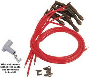 Ignition Systems - Spark Plug Wires - MSD - Ford MSD Ignition Wire Set SC Red - 31879