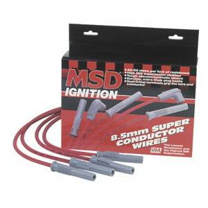 Ignition Systems - Spark Plug Wires - MSD - Ford MSD Ignition Wire Set - Red Super Conductor - 31889