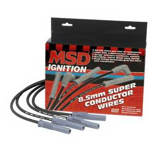 Ignition Systems - Spark Plug Wires - MSD - Chrysler MSD Ignition Wire Set - Black Super Conductor - 32273