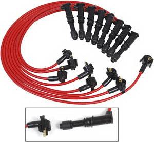 Ignition Systems - Spark Plug Wires - MSD - Ford Expedition MSD Ignition Wire Set - Red Super Conductor - 32579
