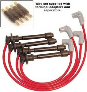 Ignition Systems - Spark Plug Wires - MSD - Toyota T100 MSD Ignition Wire Set - Super Conductor - 32669