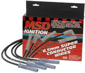 Ignition Systems - Spark Plug Wires - MSD - Ford MSD Ignition Wire Set - Black Super Conductor - HEI - 35383