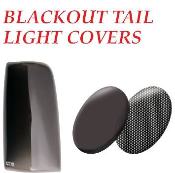 Headlights & Tail Lights - Tail Light Covers - GT Styling - Isuzu Amigo GT Styling Blackout Taillight Covers
