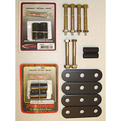Suspension - Shackles Hangers - Omix - Omix Shackle - Greaseable - Heavy Duty with Black Bushings - 18265-03
