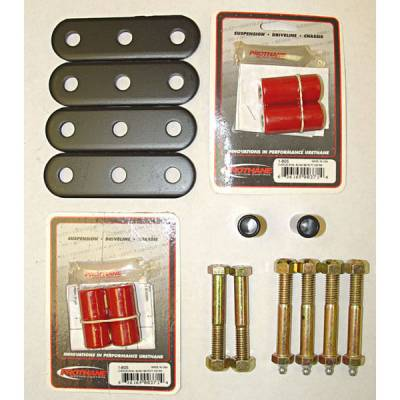 Suspension - Shackles Hangers - Omix - Omix Shackle - Greaseable - Heavy Duty with Red Bushings - 18265-04
