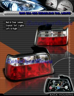 Depo Lights - Euro Lights Red and Clear - Crystal